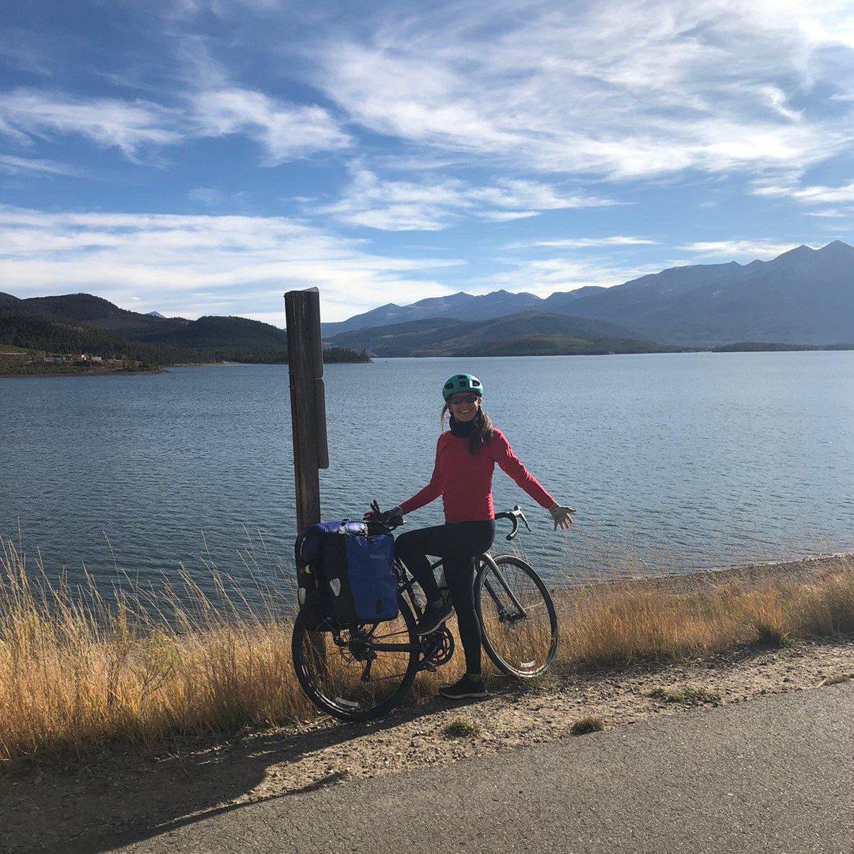 Rencontre avec Elsa Lagache : NY-SF seule sur son vélo !
